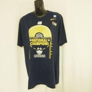 Nike NCAA UCONN National Champions Shirt Medium